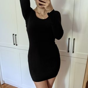 GUESS Bodycon Black dress Crossed Open Back
